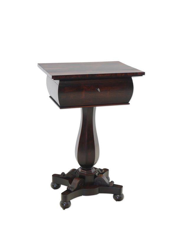 Nähtisch Beistelltisch Telefontisch Spätbiedermeier um 1850 aus Palisander (8596) – Bild 1