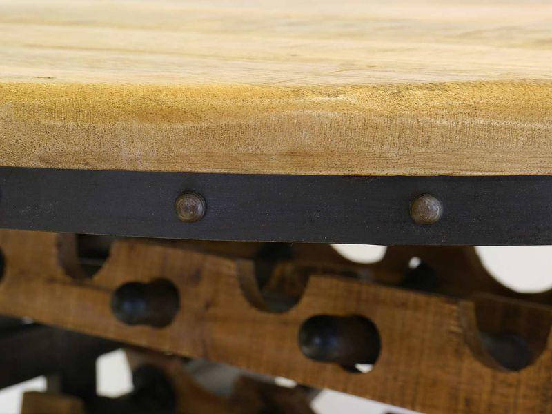 Weintisch Weintresen Weinbar Tisch Weinregal rund Industrie Style D:110cm (8612) – Bild 7
