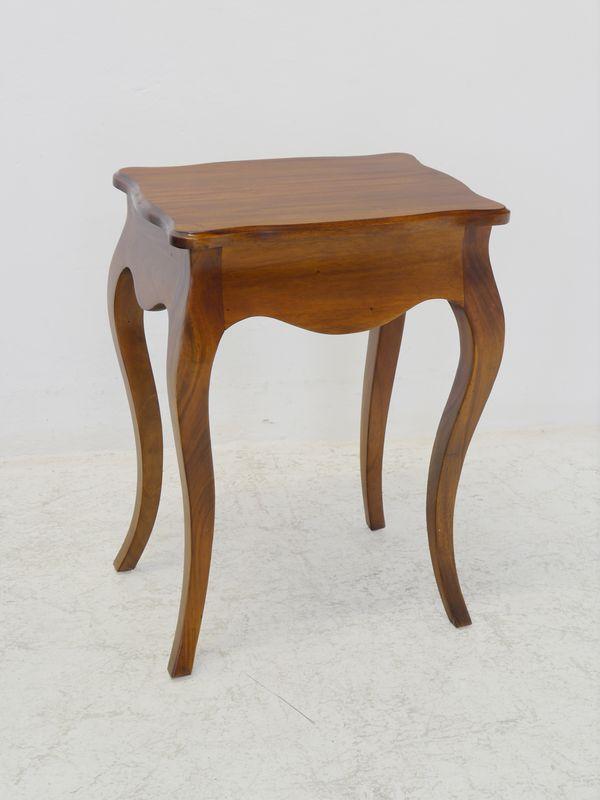 Beistelltisch Tisch Nachttisch Massivholz mit einer Schublade 68x50x36 cm (8671) – Bild 2