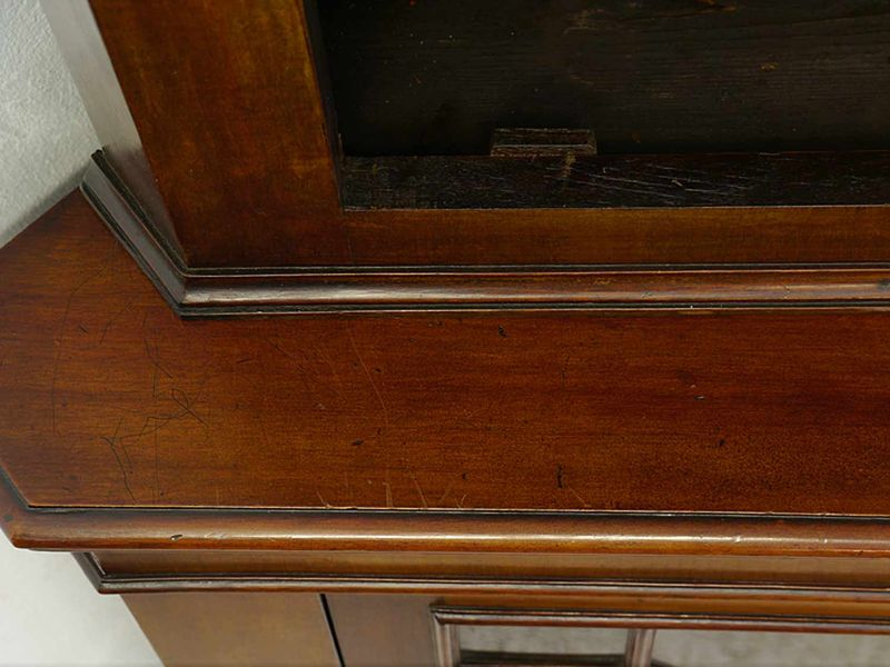 Eckschrank Eckvitrine Mahagoni englischer Stil Mahagoni Sprossenfenster (8674) – Bild 6