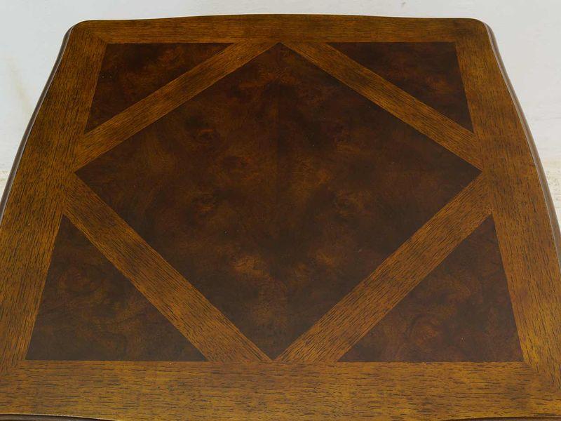 Beistelltisch Bistrotisch Tisch Louis Philippe Stil Nussbaum mit Eiche (8681) – Bild 2