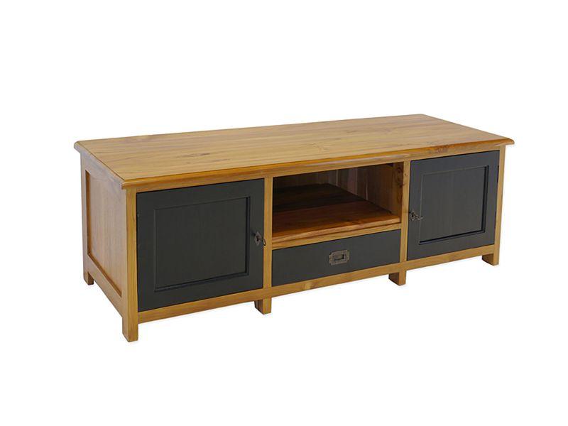 Lowboard TV-Board TV- Schrank aus Teakholz massiv B: 145 cm (8685)