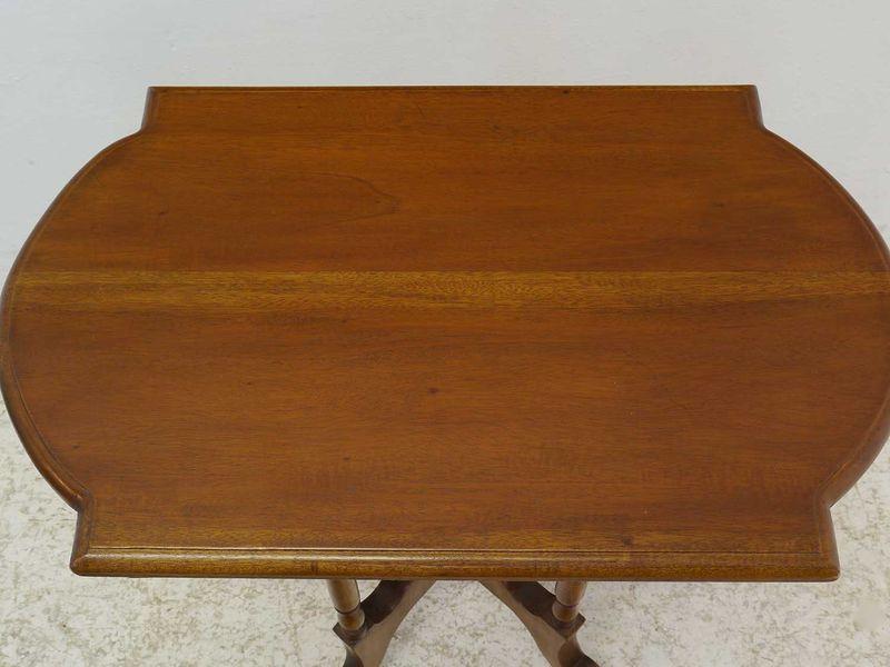 Tisch Beistelltisch Telefontisch Blumentisch Antik Stil Nussbaum-Farbton (8689) – Bild 2