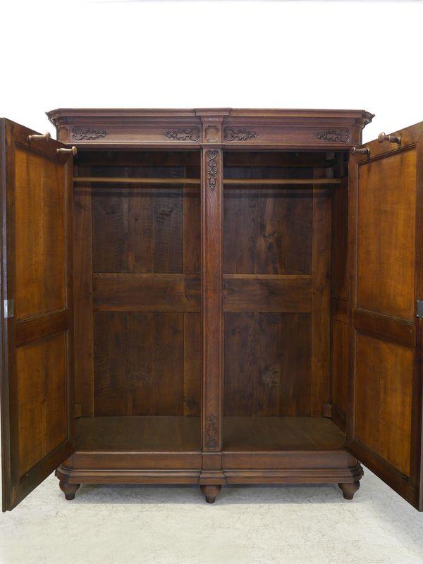 Schrank Dielenschrank Kleiderschrank im Historismus um 1860 Eiche massiv (8691) – Bild 3
