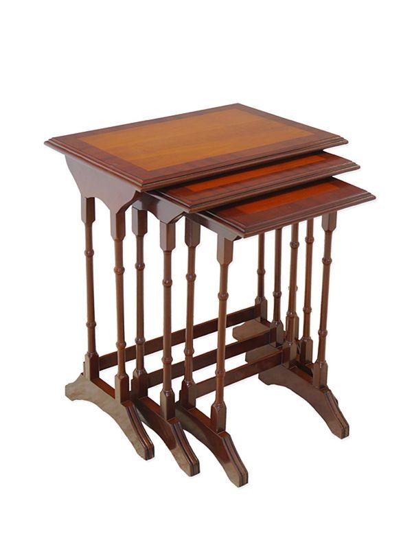 Beistelltisch Tisch Blumentisch 3er Set Antik Stil Mahagoni H: 59/56/53cm (8770) – Bild 1