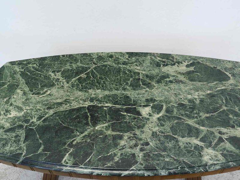 Tisch Wohnzimmertisch Couchtisch antiker Stil mit Marmorplatte L: 150 cm (8772) – Bild 2