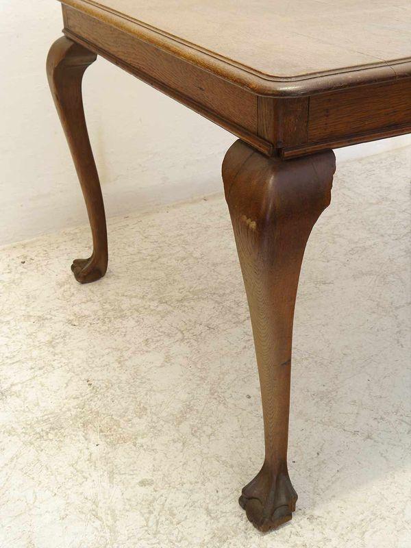 Tisch Esstisch Esszimmertisch Eiche massiv antik um 1930 L: 128 cm (8789) – Bild 3