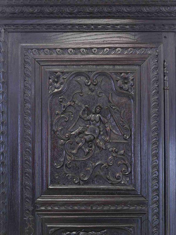 Schrank Kleiderschrank Dielenschrank Historismus Eiche massiv B: 81 cm (8797) – Bild 7