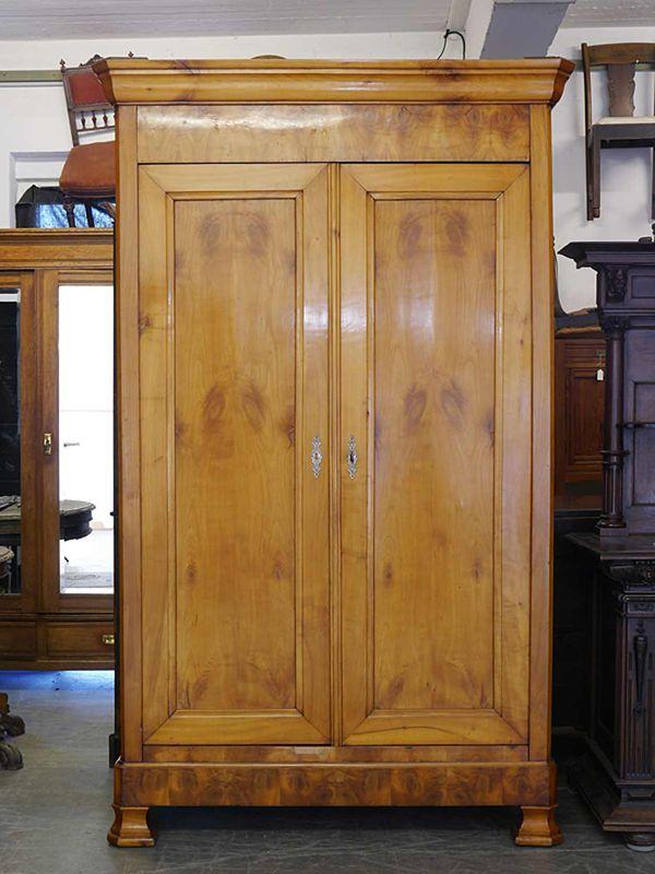 Kleiderschrank Dielenschrank Schrank Biedermeier um 1850 aus Kirschbaum (8802) – Bild 2