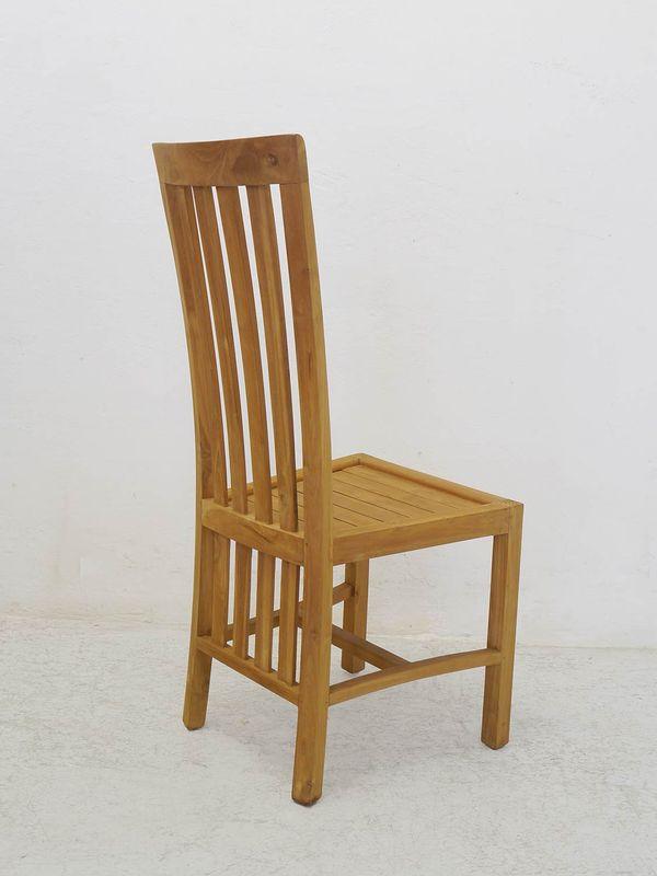 6 Stühle Lehnstühle Holzstühle Sitzgruppe Landhaus Stil Teakholz massiv (8814) – Bild 4