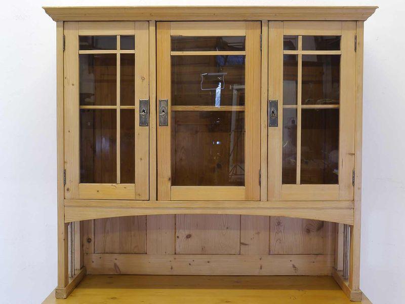 Antikes Buffet Buffetschrank Küchenschrank um 1900 Weichholz B: 120 cm (8816) – Bild 7