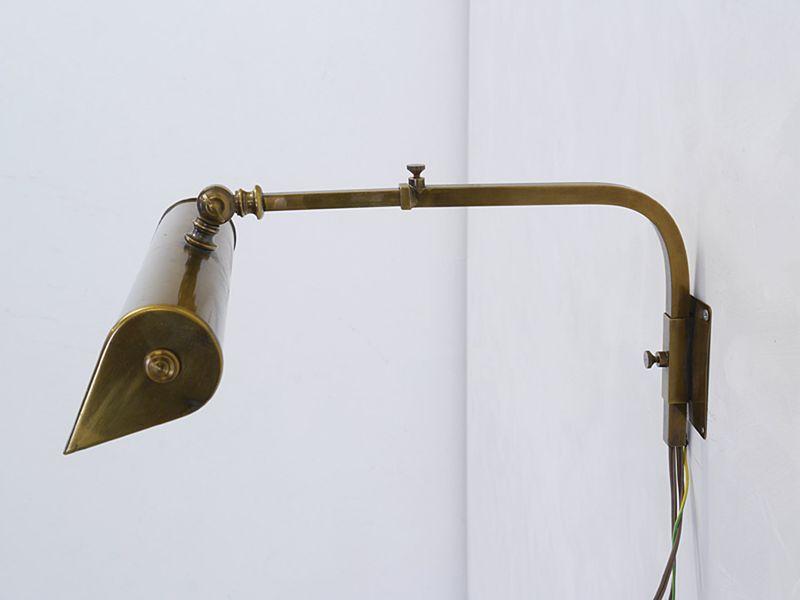 Wandleuchte Wandlampe Leselampe Leuchte in Messing verstellbar B: 31 cm (8842) – Bild 2