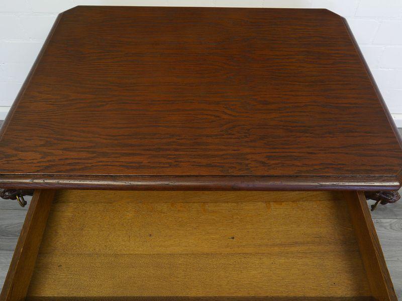 Schreibtisch Damenschreibtisch Schreibmöbel Gründerzeit um 1880 Eiche (8844) – Bild 2