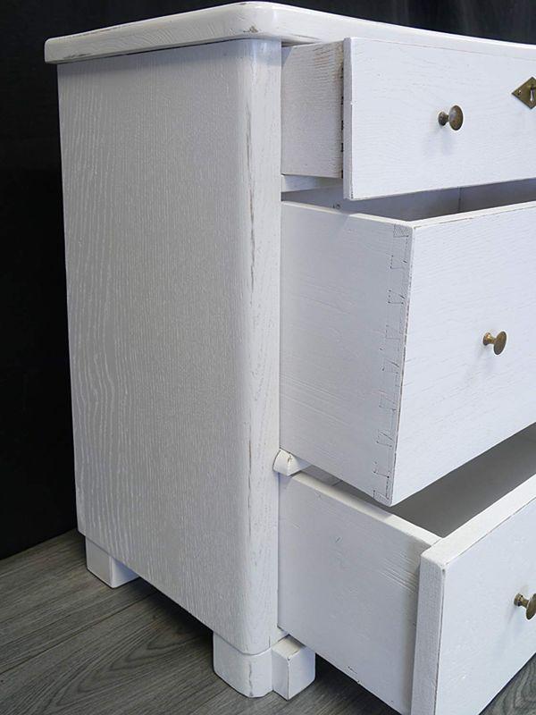 Kommode Flurkommode Sideboard Antik um 1900 Shabby Chic weiß 72x74x38 cm (8867) – Bild 5