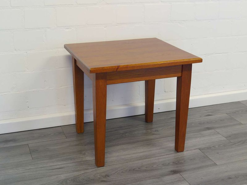 Tisch Beistelltisch Couchtisch Massivholz Nussbaum-Farbton 56x60,5x55 cm (8937) – Bild 2