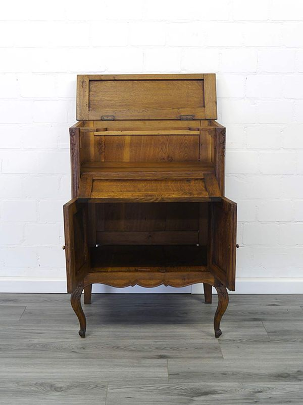 Anrichte Bar-Schrank Phonoschrank Antik um 1920 Eiche teilmassiv B: 68 cm (8950) – Bild 2