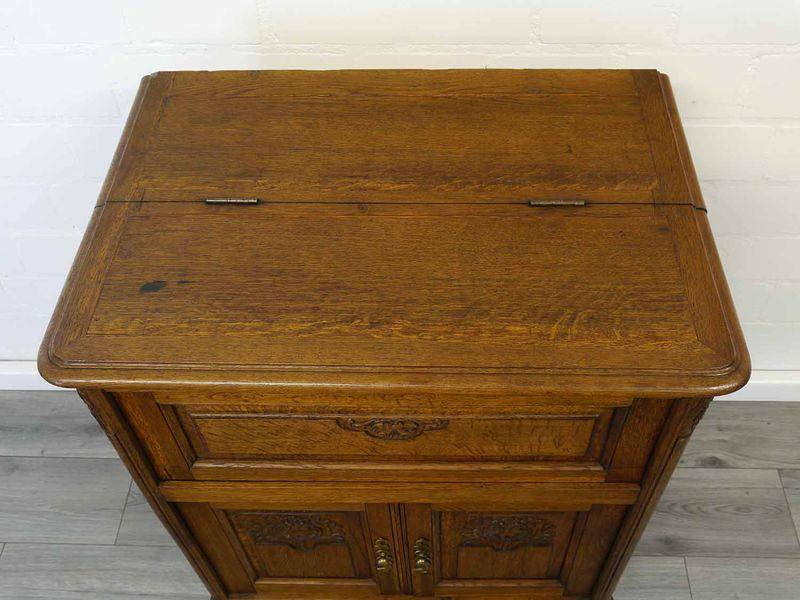 Anrichte Bar-Schrank Phonoschrank Antik um 1920 Eiche teilmassiv B: 68 cm (8950) – Bild 3