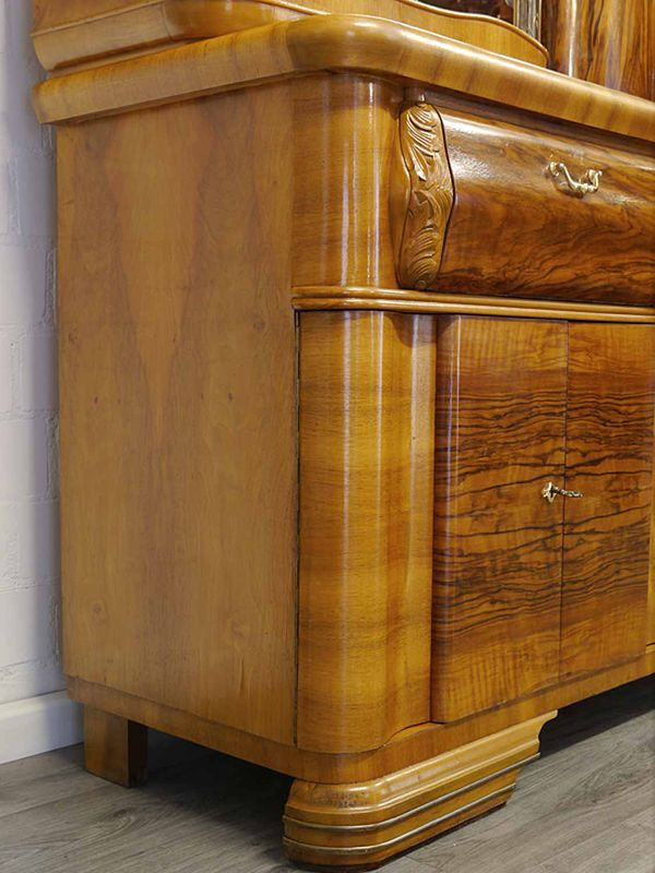 Buffetschrank Buffet Schrank Küchenschrank 30 er Jahre Nussbaum B: 201 cm (8952) – Bild 9