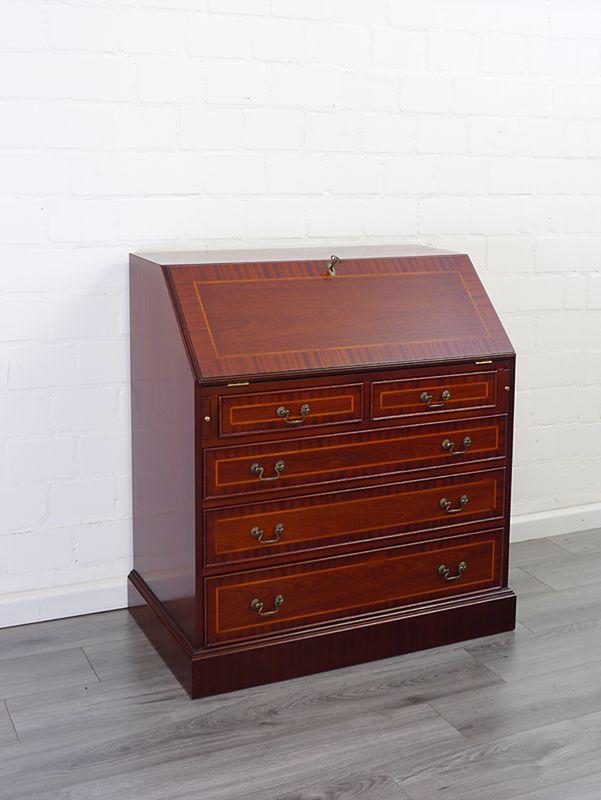 Sekretär Schreibtisch Schreibsekretär englischer Stil Mahagoni furniert (9092) – Bild 9