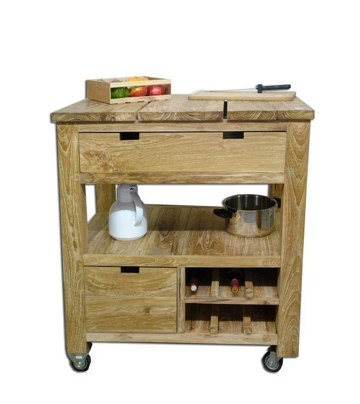 butcher block mobile k che teak kommode schneidebrett 928 kommoden und anrichten kommoden. Black Bedroom Furniture Sets. Home Design Ideas