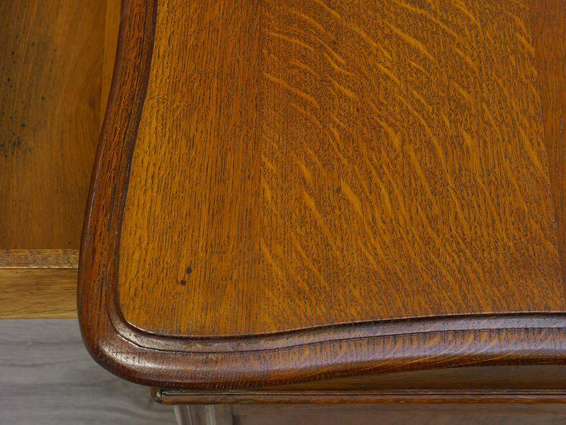 Antiker Partner-Schreibtisch Louis Philippe Eiche B: 150 cm (9587) – Bild 4