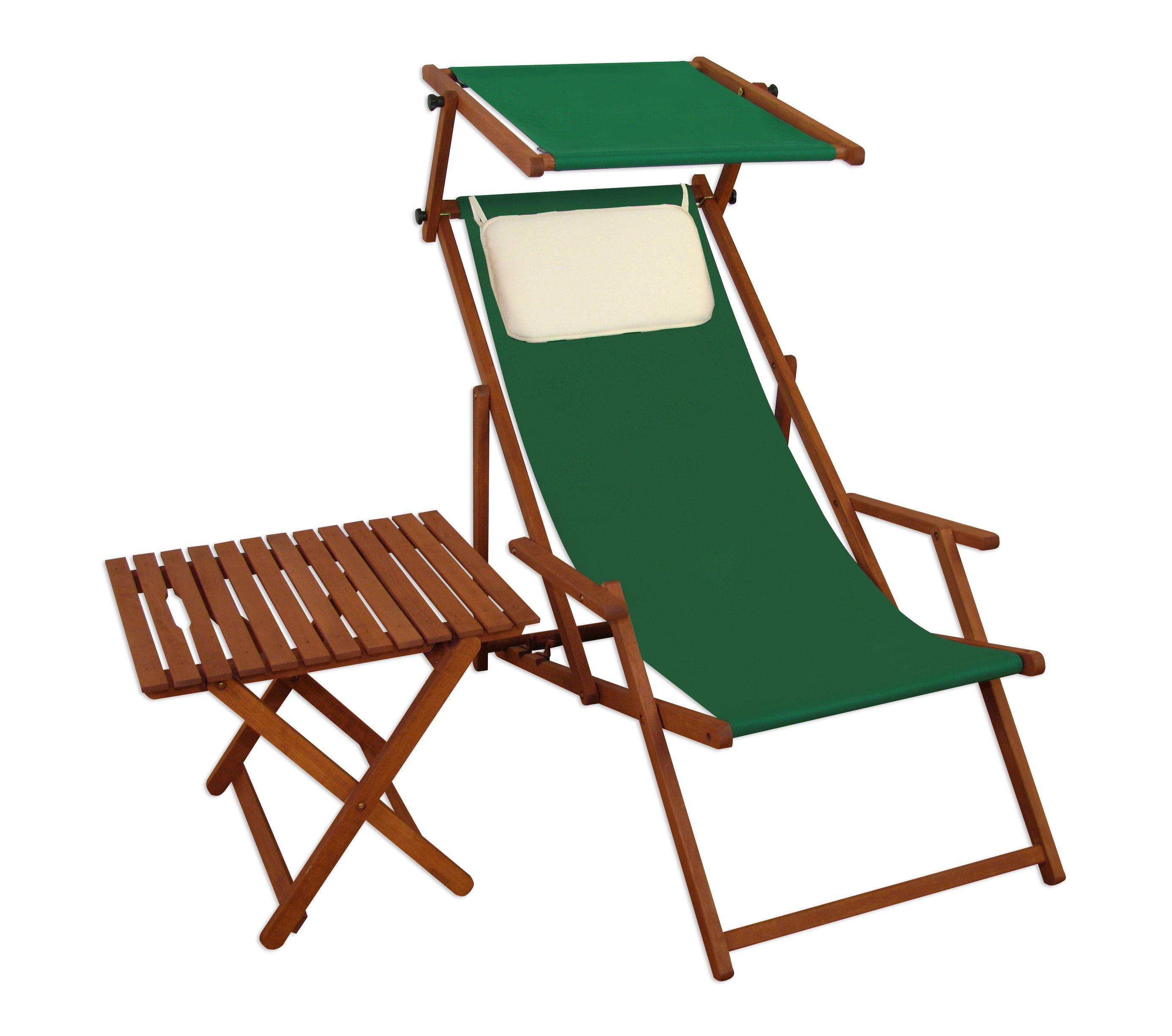 Liegestühle mit Sonnendach