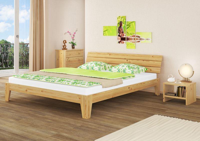 Futon letto doppio legno massello pino massiccio senza