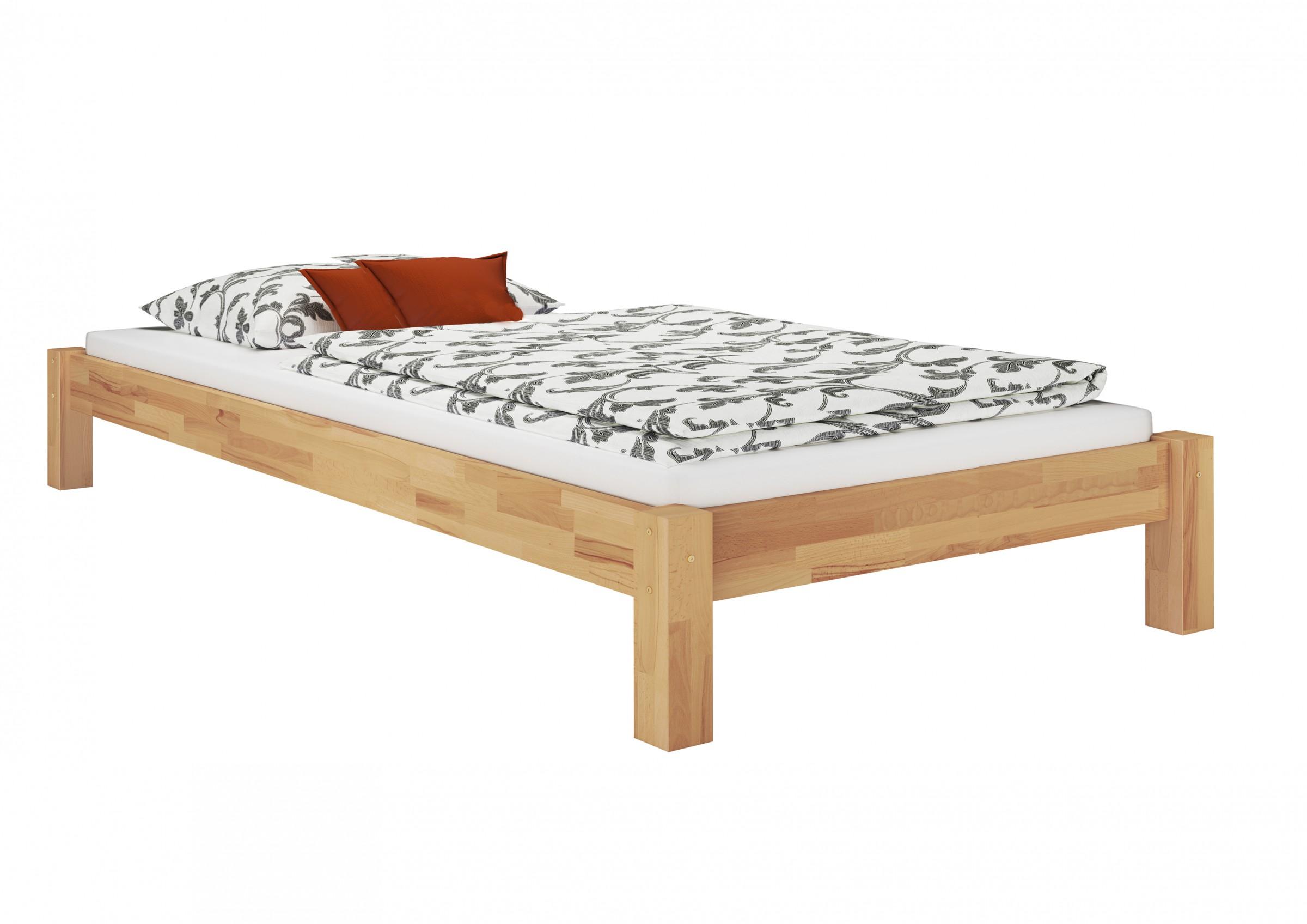bettgestell einzelbett buche massiv 120x200 matratze. Black Bedroom Furniture Sets. Home Design Ideas
