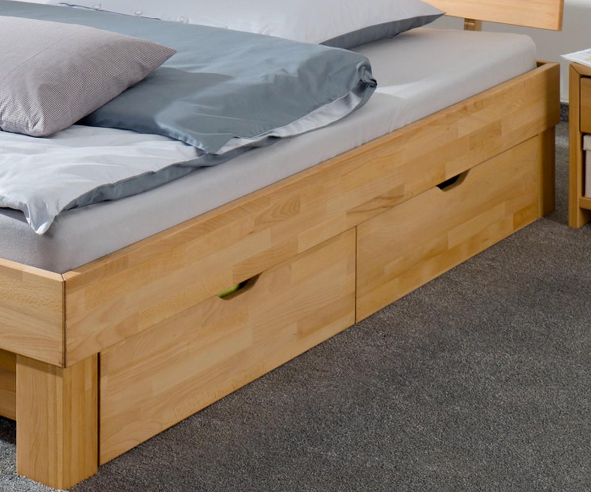 Einzelbett mit bettkasten buche  60.86-14 B33 Buche Doppelbett 140x200 mit Bettkasten Französisches ...