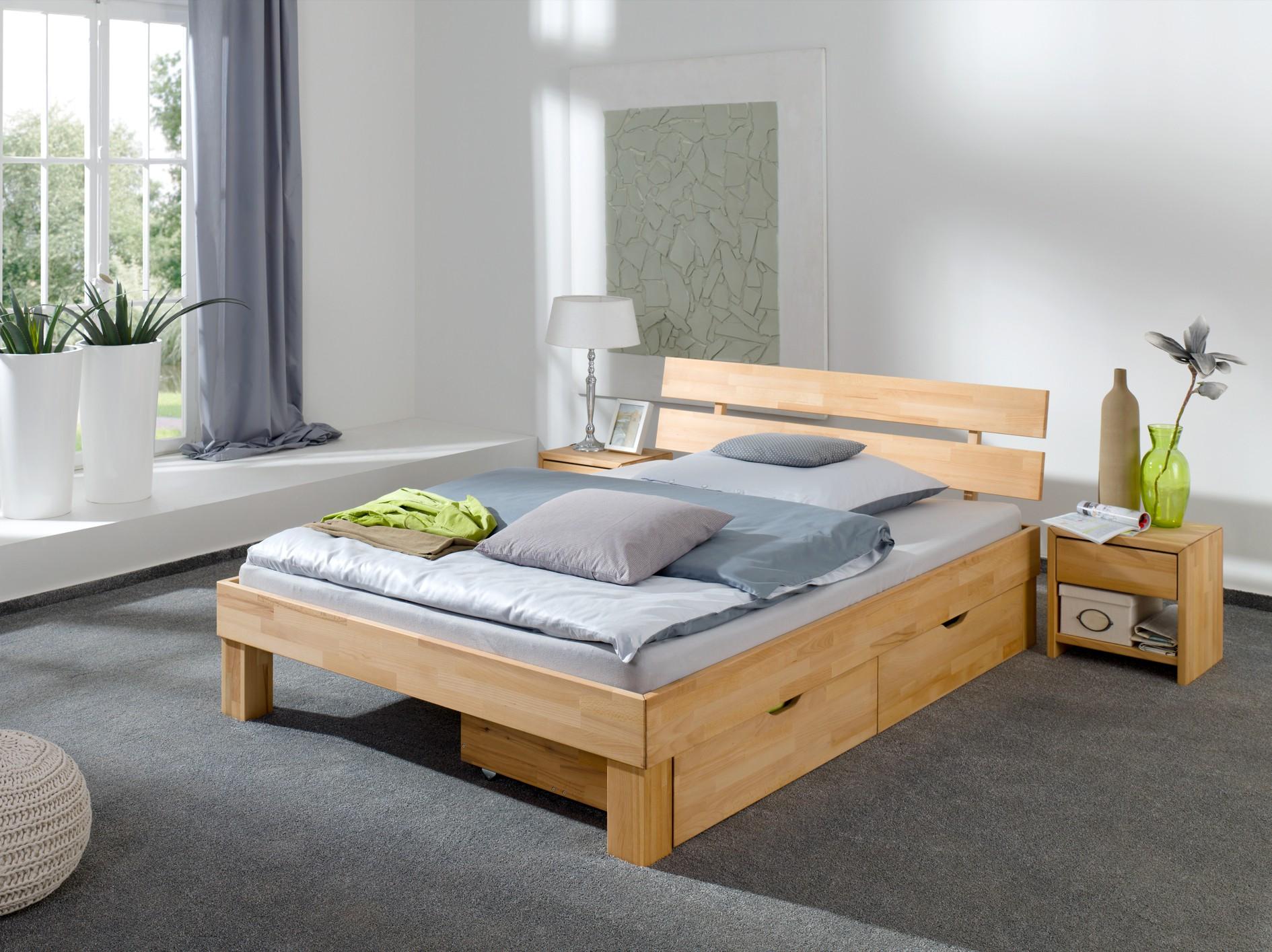 Inspirierend Bettkasten Bett Beste Wahl 60.86-18 B33 Doppel-bett 180x200 Buche Massiv Ehebett
