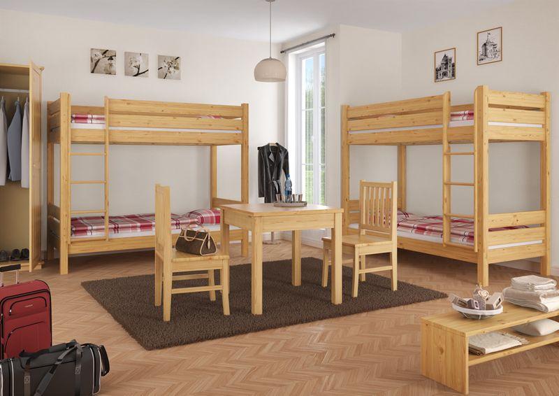 Holz Etagenbett Für Erwachsene : Etagenbett erwachsene extra stabil 90x200 nische 100 cm mit 2