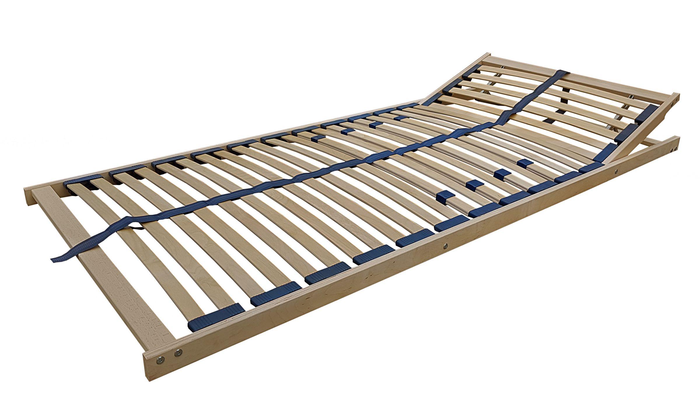 Cama de madera Roble macizo Cama individual 100x200 Estructura de ...