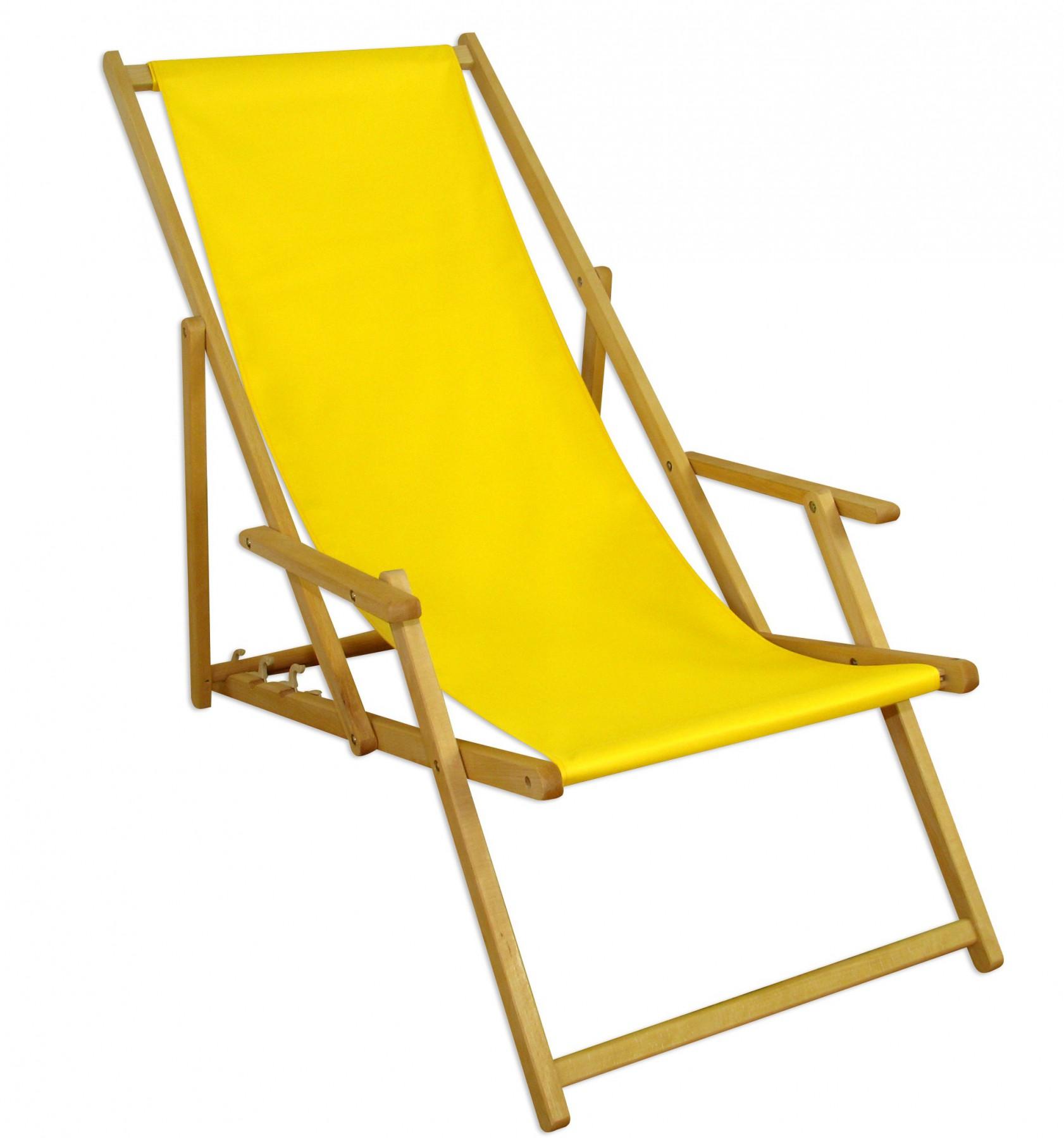gartenliege gelb sonnenliege holz relaxliege sonnendach strandstuhl