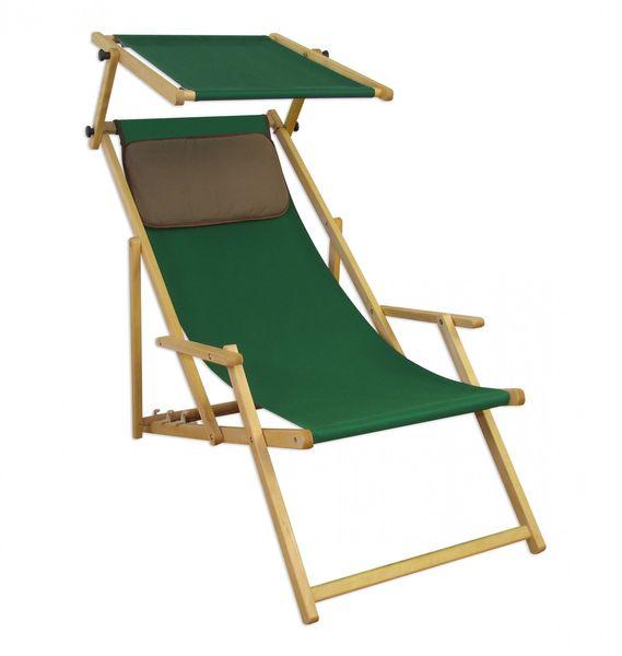 Détails sur Chaise de Jardin Lit Soleil Plage Toit Ouvrant Bois Meubles  10-304 N S Kd