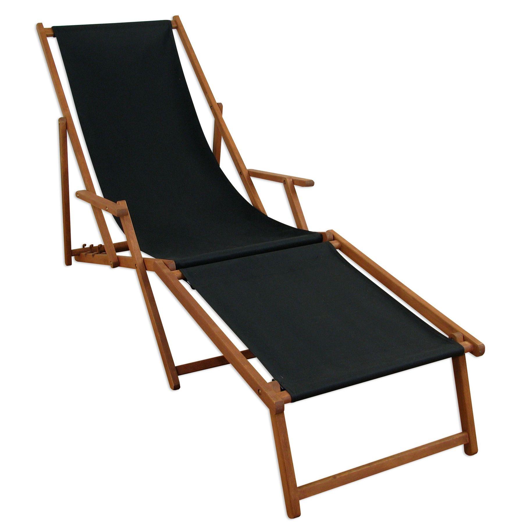 Détails sur Chaise Longue Noir Table Coussin Lit Soleil Transat pour Jardin  10-305 Ftkd