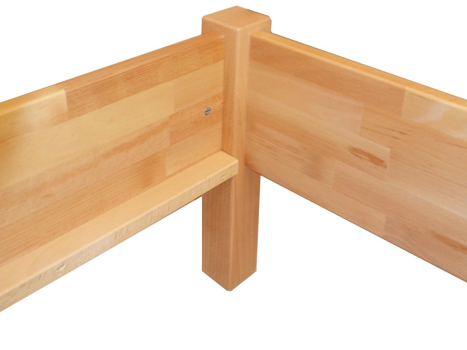 Strutture Letto In Legno Massello : Letto legno massello faggio francese doppio telaio