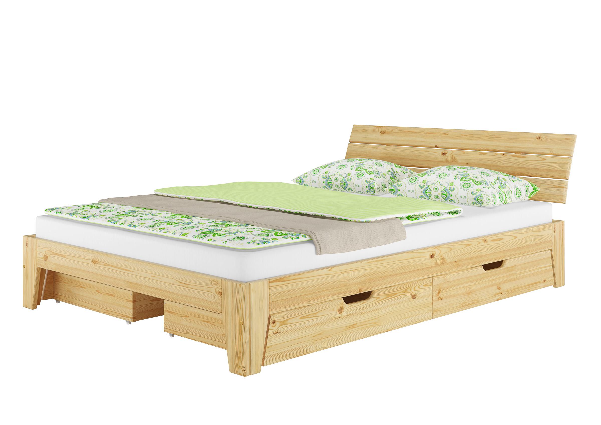 Details Zu Massivholz Bett 140x200 Mit Rollrost Betten Naturholz Betten Aus Holz 6062 14