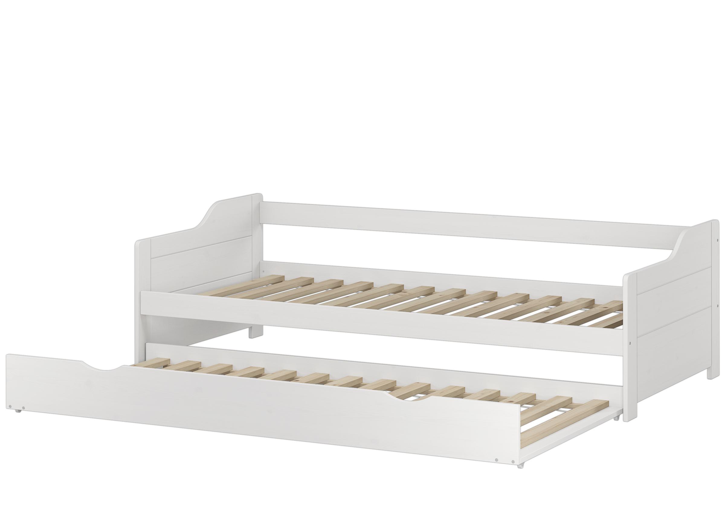 Einzelbett mit bettkasten  Sofabett Doppelbett Bettgestell 90x200 Einzelbett Bett + Bettkasten ...