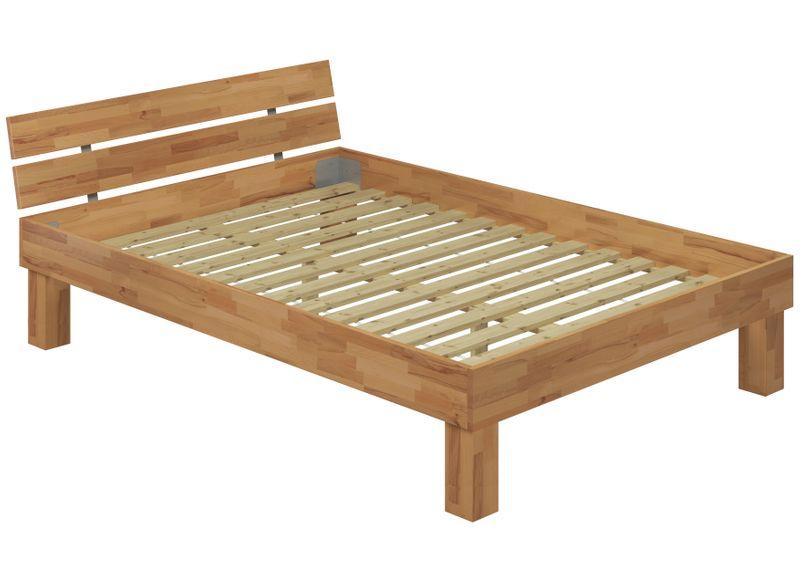 altezza letto legno massello singolo faggio 120x200 per. Black Bedroom Furniture Sets. Home Design Ideas