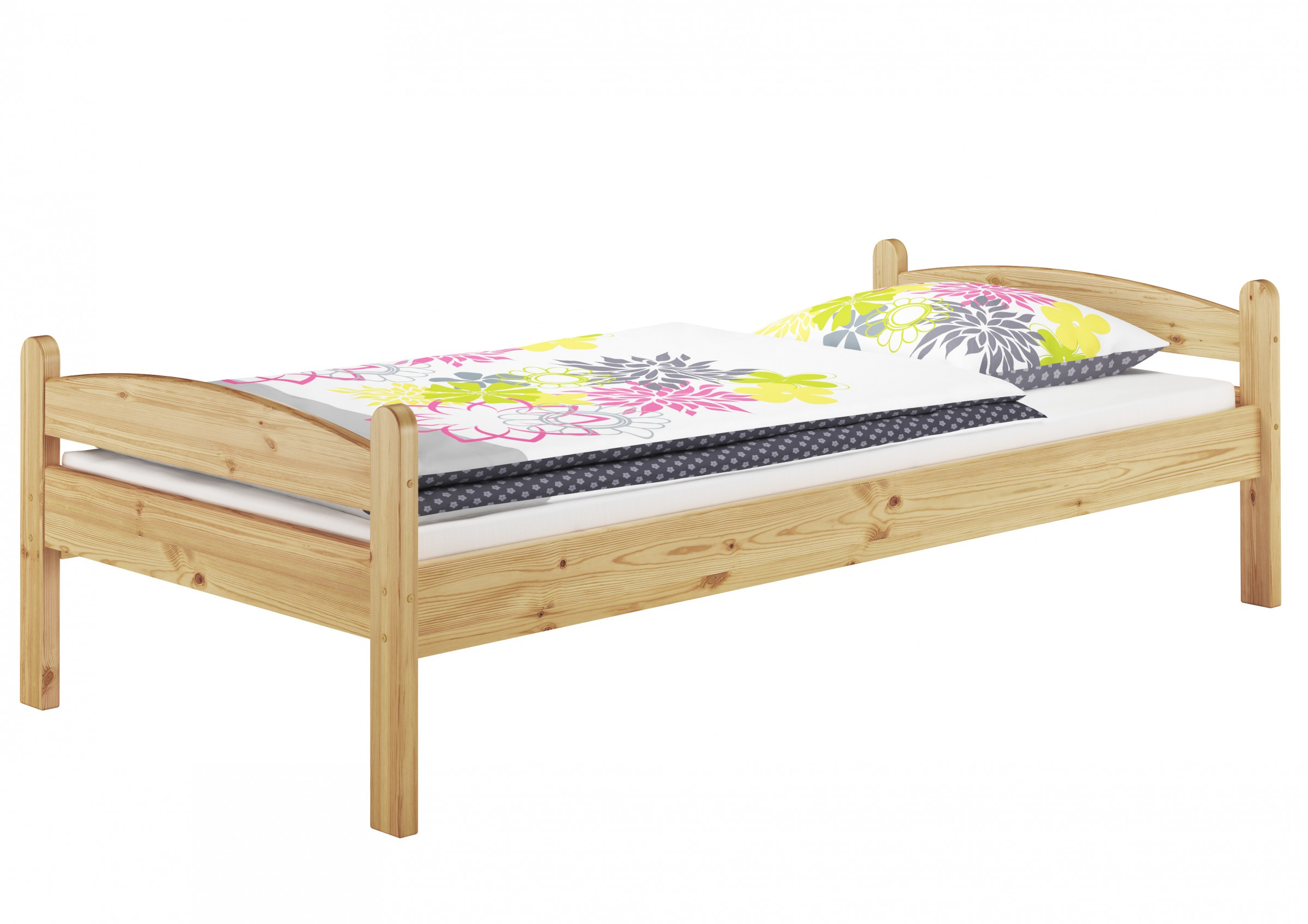 bett kiefer massiv stabil jugendbett g ste 90x200 rollrost matratze m 4250639512221 ebay. Black Bedroom Furniture Sets. Home Design Ideas