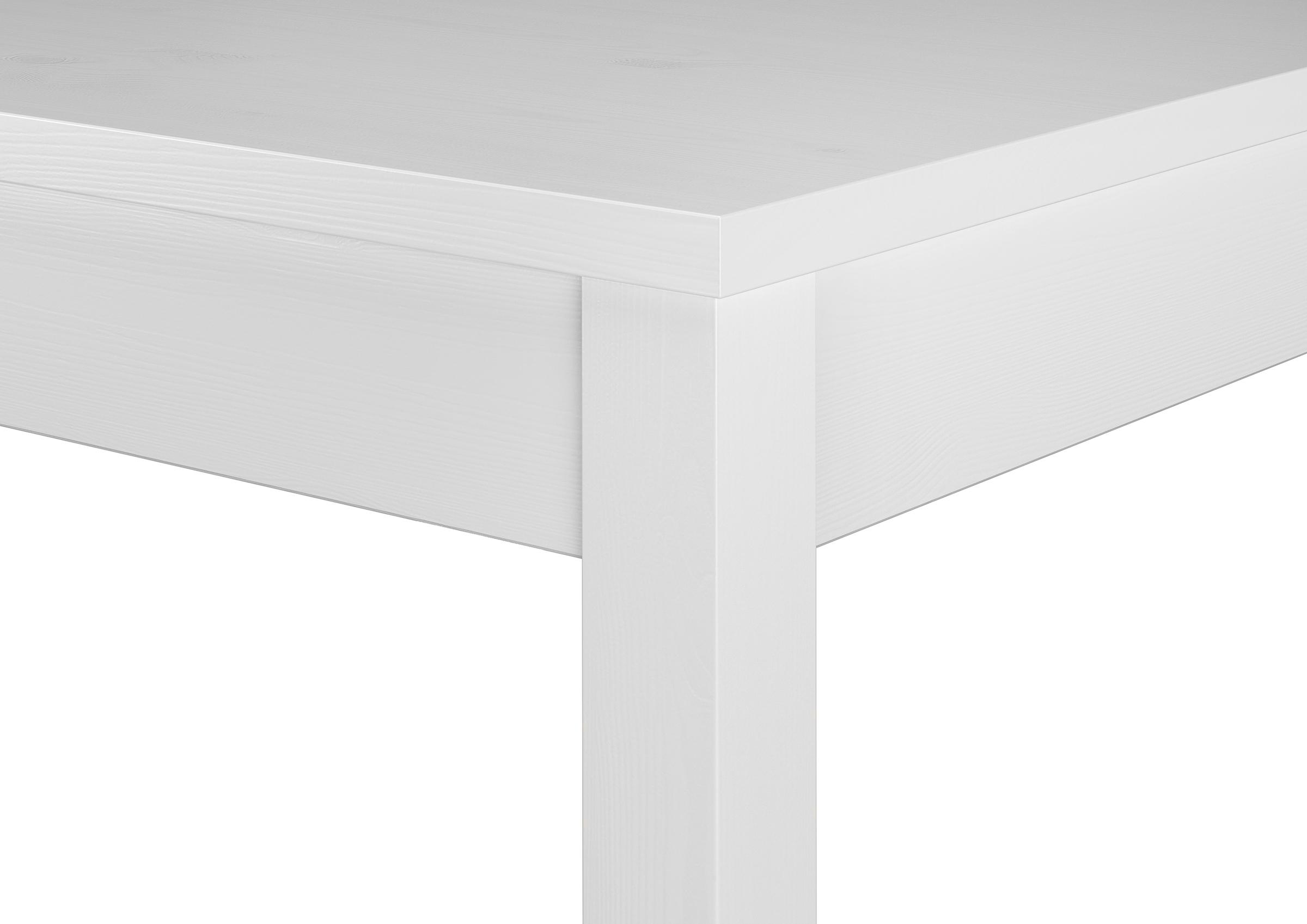 Moderne weiße Essgruppe mit Tisch und 2 Stühle Kiefer Massivholz ...