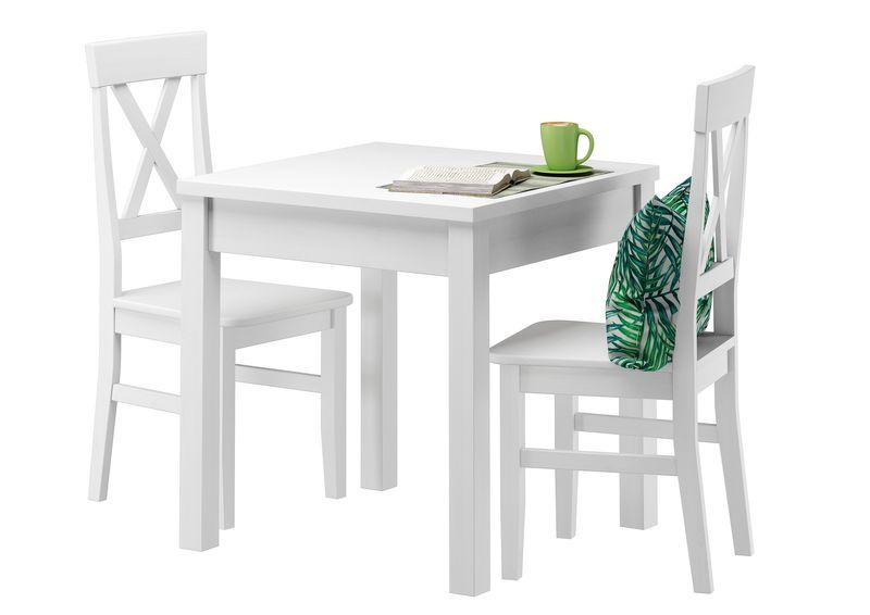 Stillvolle kleine 23 waschweiß 50 Set 2 W Massivholz Essgruppe Kiefer Tisch A 90 70 Stühle fbgY7ym6vI