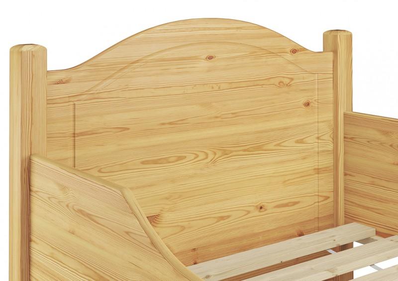 seniorenbett extra hoch 90x200 einzelbett massivholz bett rollrost ebay. Black Bedroom Furniture Sets. Home Design Ideas