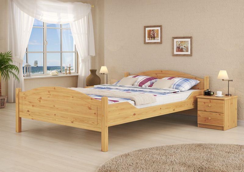 doppel bett kiefer 140x200 matratze u federholzrahmen. Black Bedroom Furniture Sets. Home Design Ideas