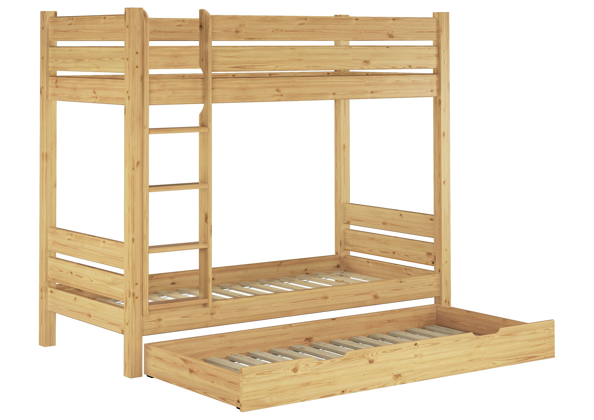 Picture of: Solid Bunk Bed Of Pine 90×200 Also For Adults With Slats 3 Mattresses Bed Drawer 60 16 09ms7m Ceres Webshop