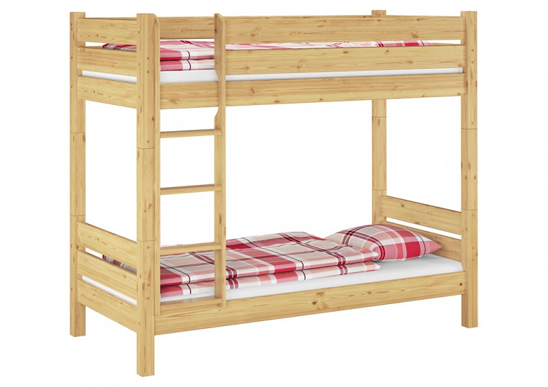 Solid Bunk Bed Of Pine Eco 90x190 Also For Adults With Slats Separable 60 16 09 190t100 Ceres Webshop
