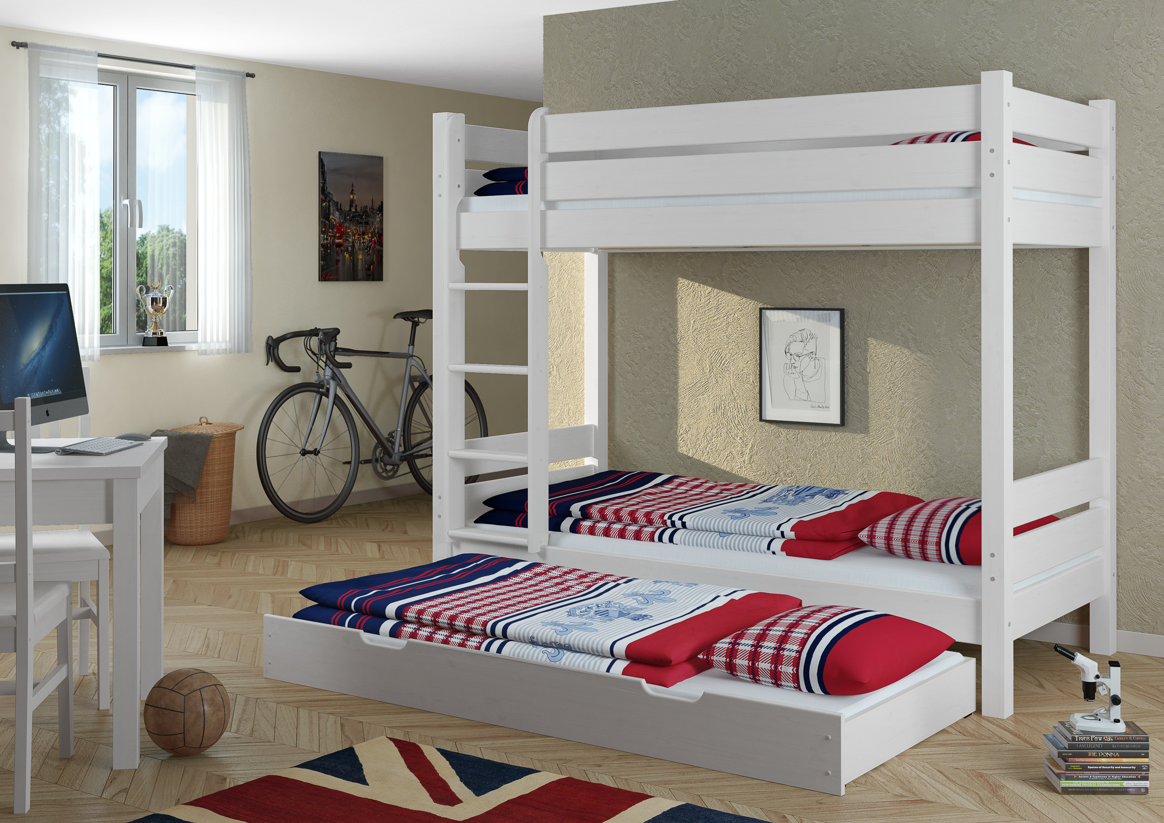 Holz Etagenbett Für Erwachsene : Etagenbett erwachsene weiß 100x200 nische 100 matratzen rollroste