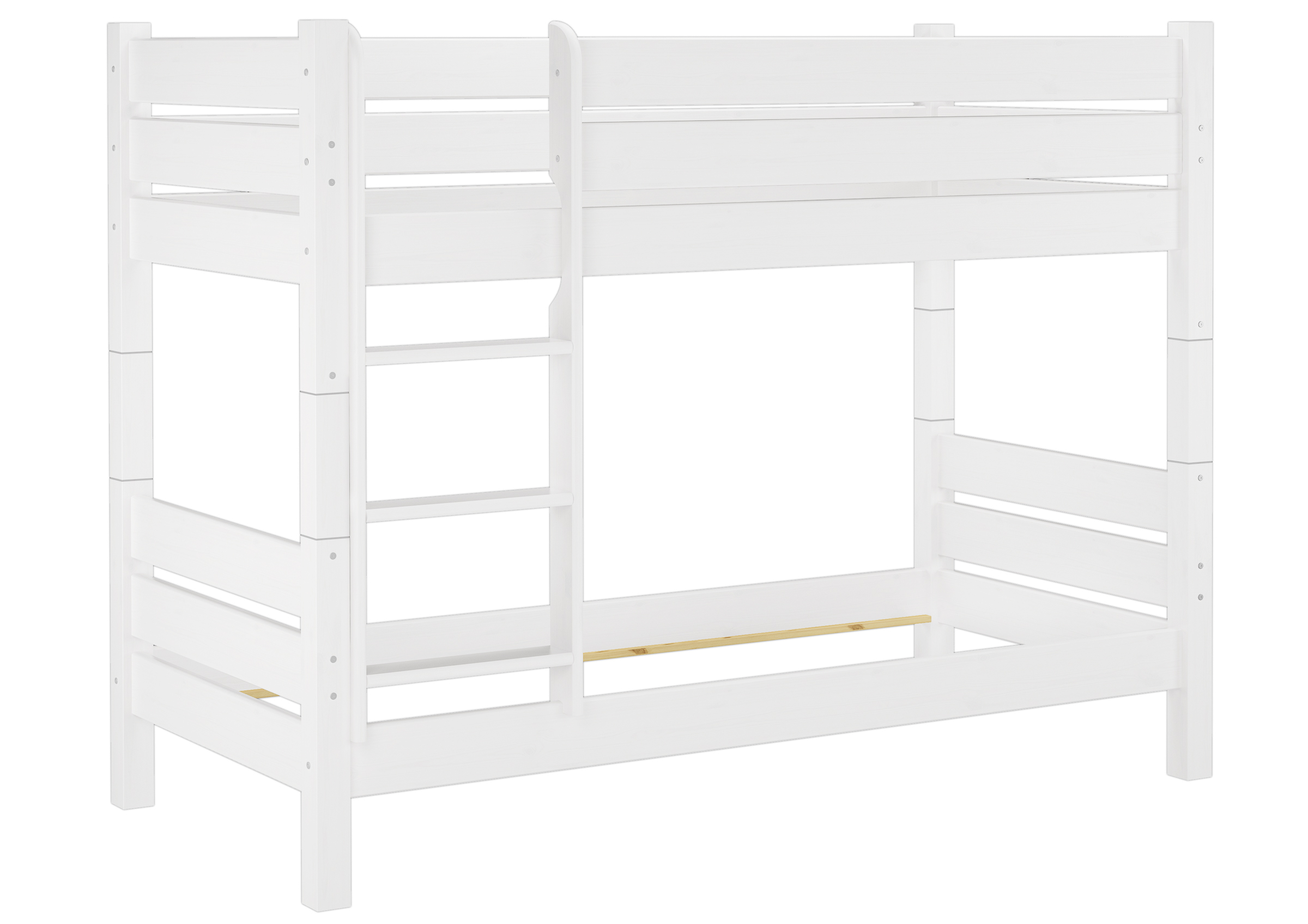 Solid Long White Bunkbed Of Eco Pine 80x220 For Adults With Slats Separable 60 16 08 220wt100 Ceres Webshop