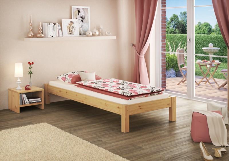 Base Letto Legno : Letto pino legno massello futon ospite senza rete a doghe
