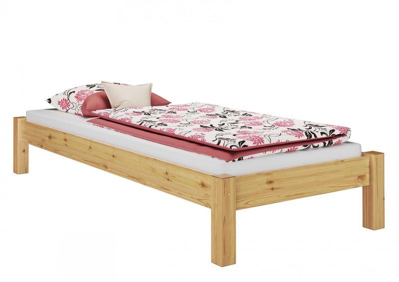 bett kiefer massiv stabil futonbett 100x200 mit rollrost u. Black Bedroom Furniture Sets. Home Design Ideas
